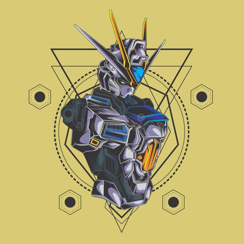 Geometría sagrada del combatiente de Gundam libre illustration