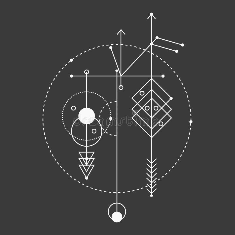 Geometría sagrada, elementos del diseño gráfico de vector libre illustration