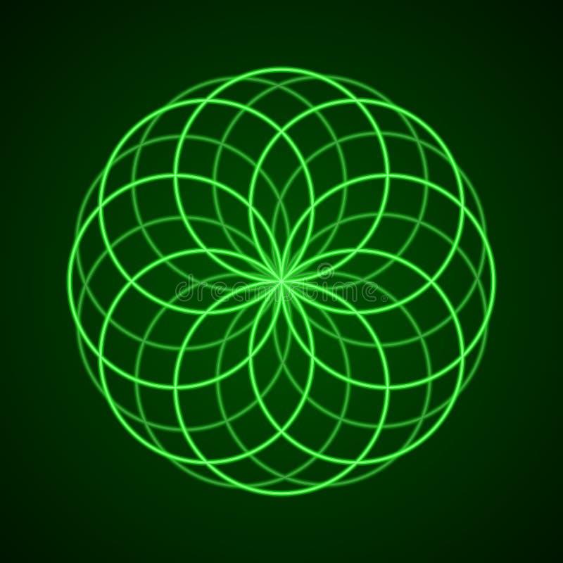 Geometría sagrada Símbolo de la armonía libre illustration