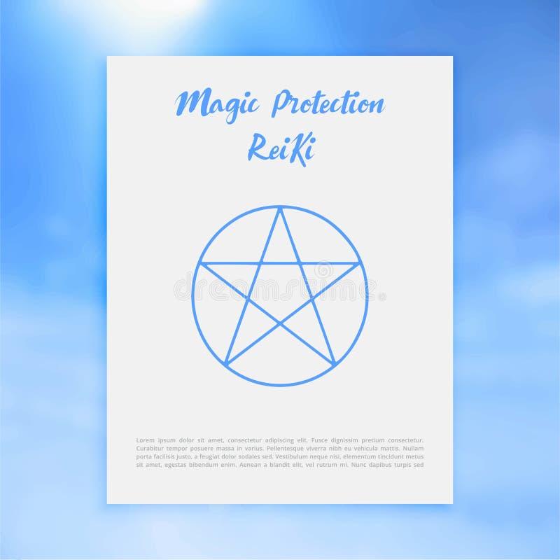 Geometría sagrada Símbolo de Reiki La palabra se compone de dos palabras japonesas, ` universal del ` de los medios de Rei - ` de stock de ilustración