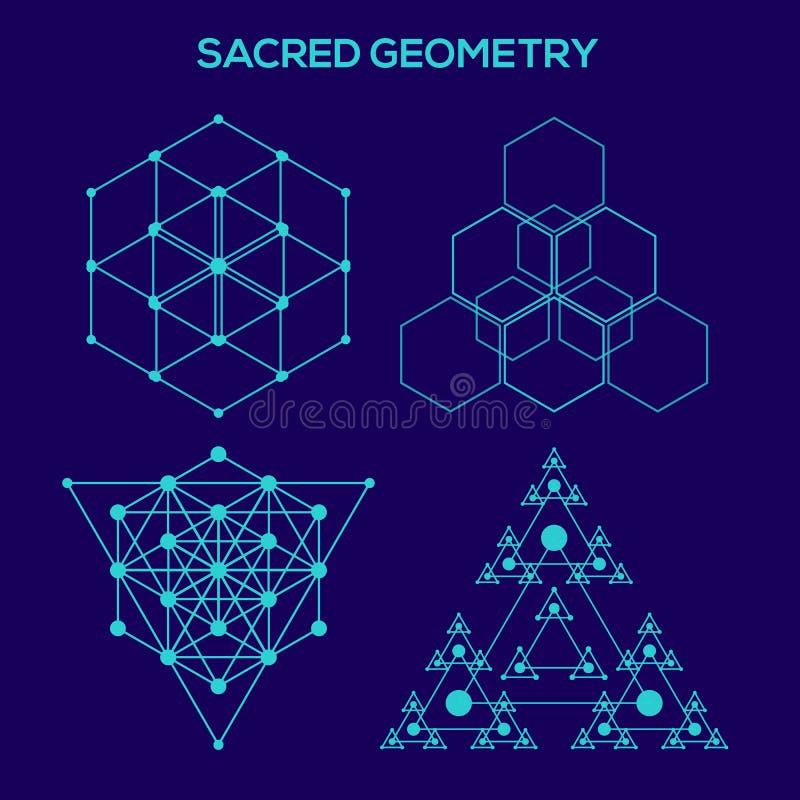 Geometría sagrada Símbolos y elementos del inconformista ilustración del vector