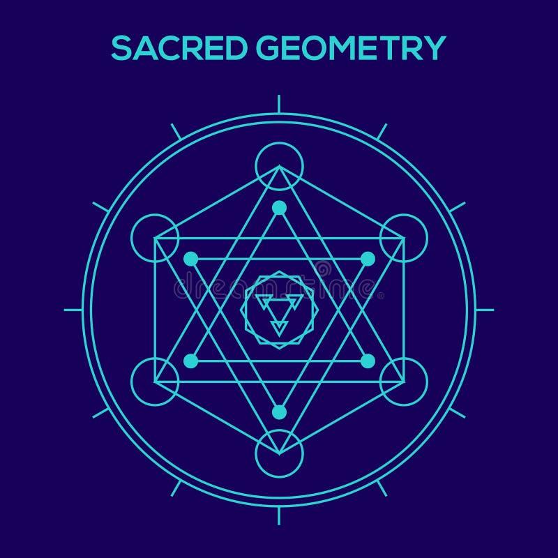 Geometría sagrada Símbolos y elementos del inconformista stock de ilustración