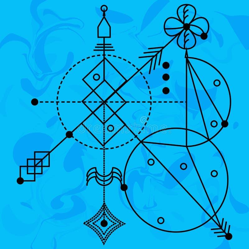 Geometría sagrada, vector, elementos del diseño gráfico concepto de rel libre illustration