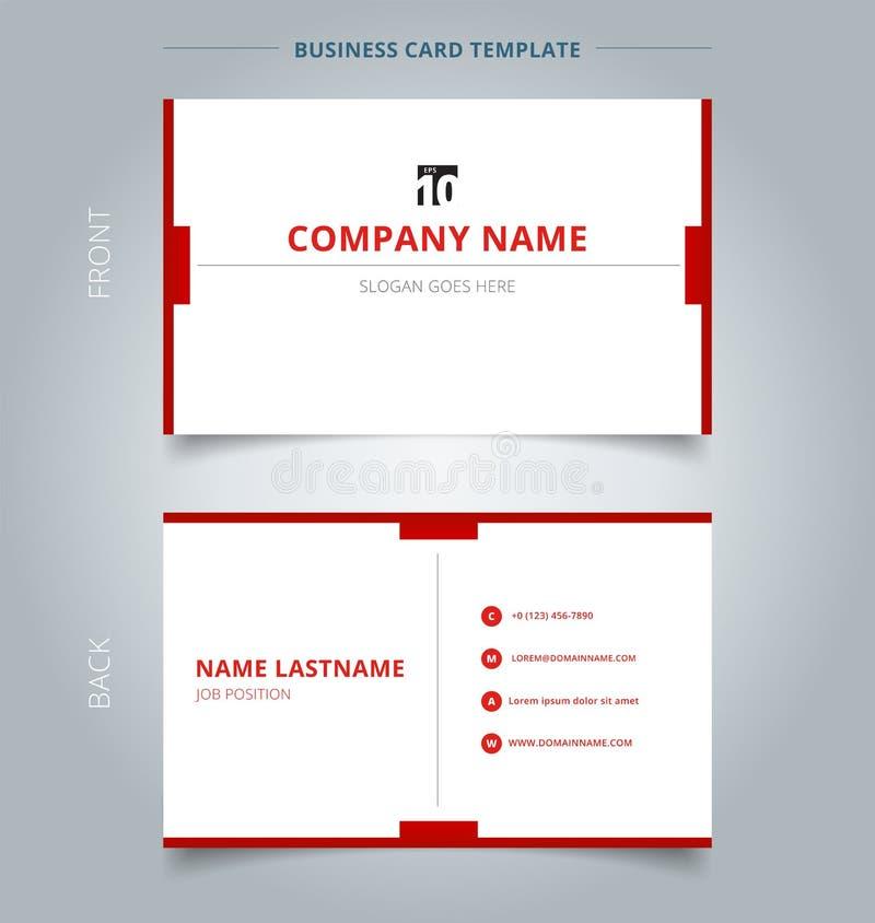 Geometr criativo da tecnologia do molde do cartão do cartão e de nome ilustração do vetor