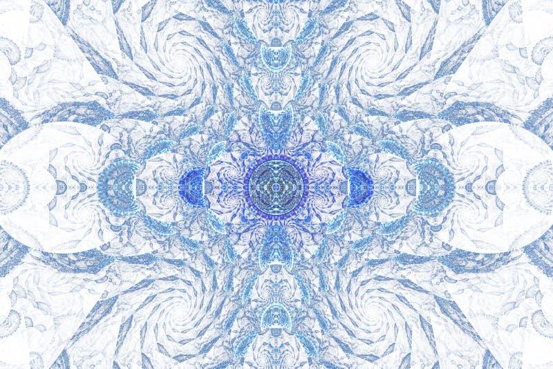 Geometr?a de espacio Formas que fluyen din?micas con espirales ilustración del vector