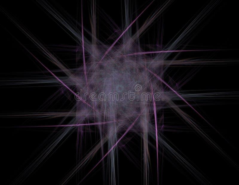 Geometr?a de la serie del espacio Contexto visualmente atractivo hecho de curvas conceptuales de las rejillas y de elementos del  ilustración del vector