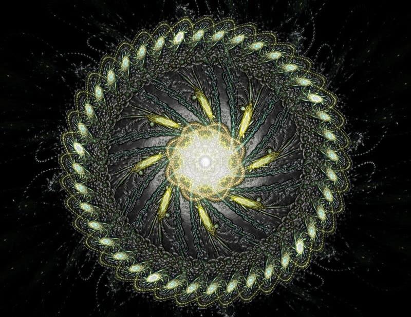 Geometr?a de la serie del espacio Contexto visualmente atractivo hecho de curvas conceptuales de las rejillas y de elementos del  stock de ilustración