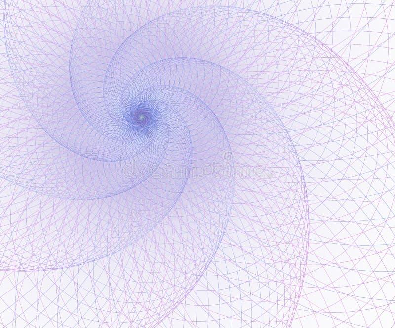 Geometr?a, elemento de la malla Curvas de la intersecci?n Dise?o futurista surrealista stock de ilustración