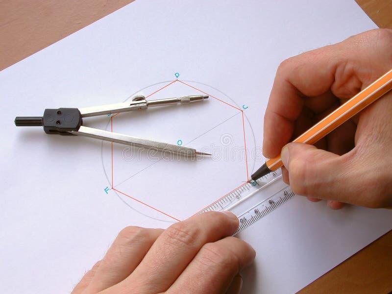 Geometri Arkivfoton