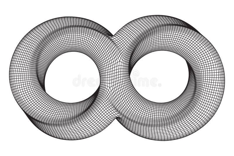 Geometri för oändlighet för cirkel för Mobius remsa sakral royaltyfri illustrationer