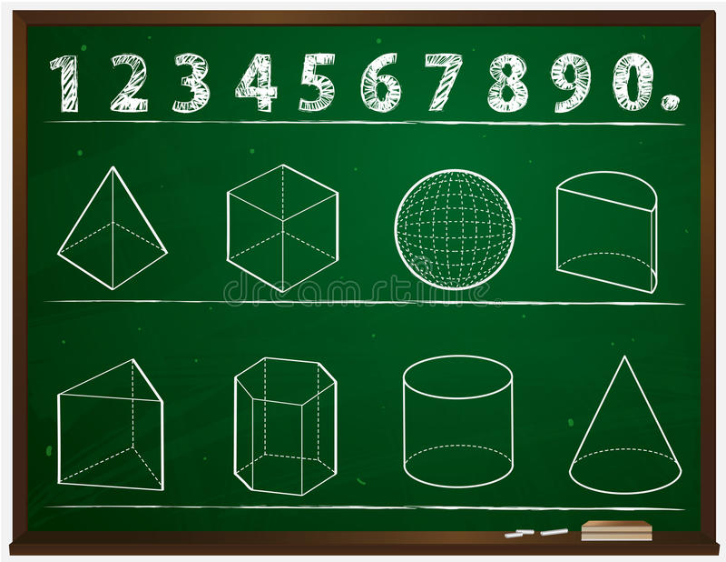 Geometria ilustração stock