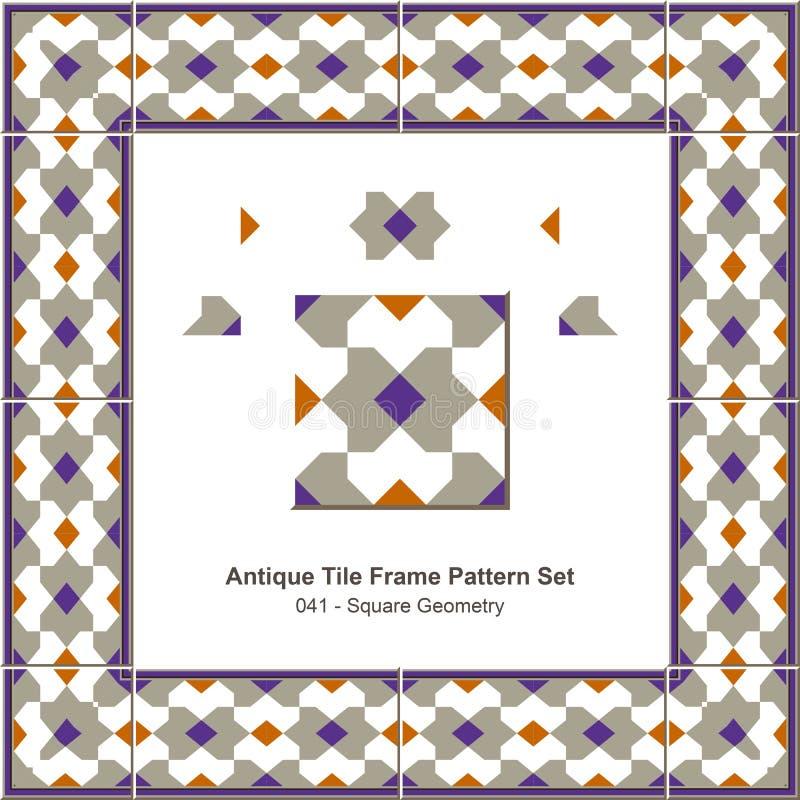 Download Geometria Antiga Do Quadrado Do Teste Padrão Set_041 Do Quadro Da Telha Ilustração do Vetor - Ilustração de página, portuguese: 65575139