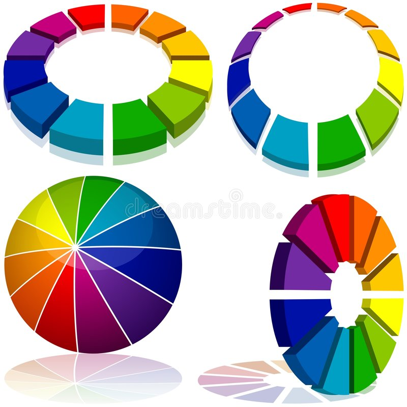 geometria barwiona ilustracji