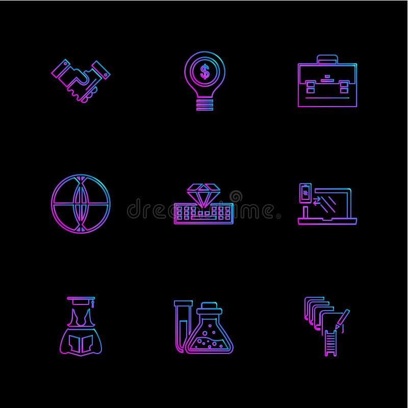 a geometria, ciência, educação, estudos, ícones do eps ajustou o vetor ilustração do vetor