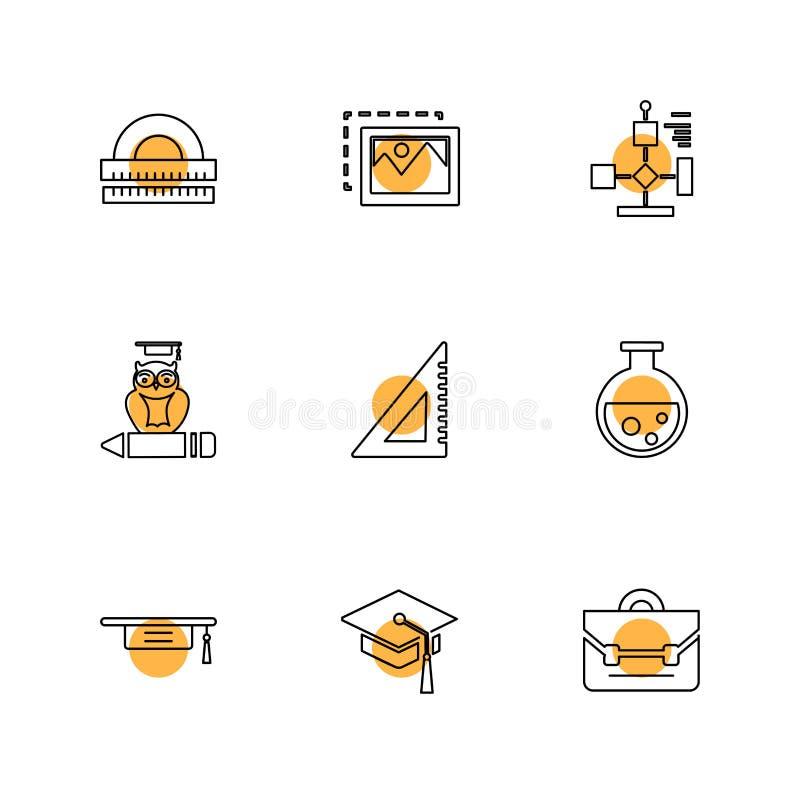 a geometria, ciência, educação, estudos, ícones do eps ajustou o vetor ilustração royalty free