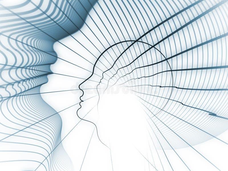A geometria crescente da alma ilustração do vetor