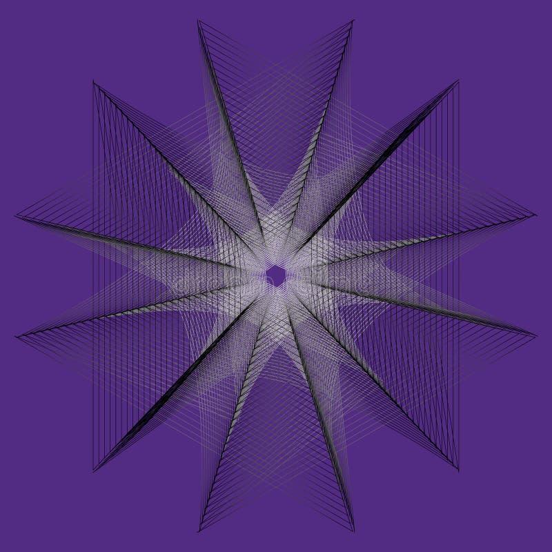 geometria da flor 3d de estrelas e de flocos da natureza
