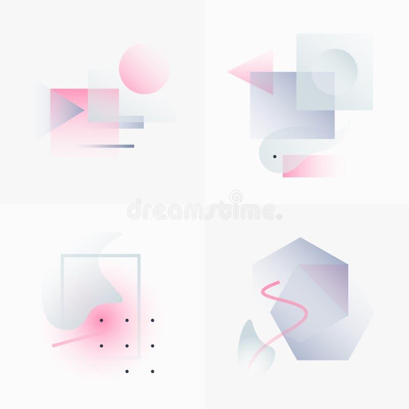 A geometria do inclinação forma 06 ilustração royalty free