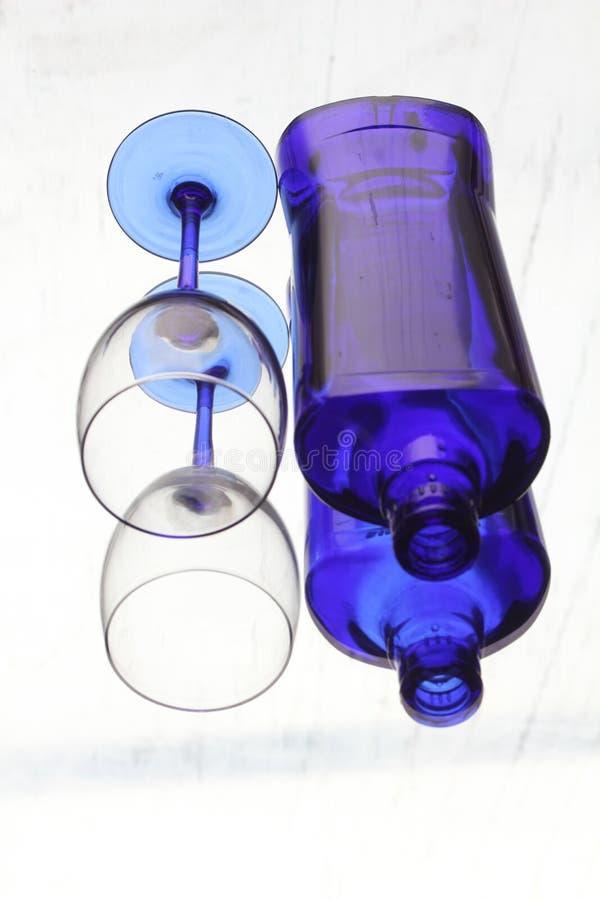 A geometria do vidro Vidro Garrafa reflexão imagens de stock