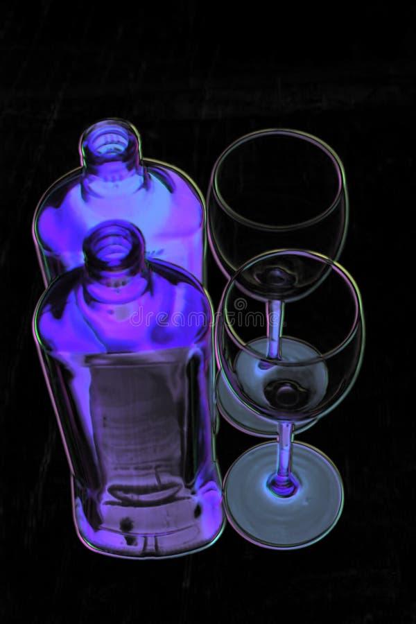A geometria do vidro Vidro Garrafa reflexão foto de stock royalty free