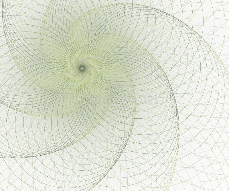 Geometria, elemento da malha Curvas da interse??o Projeto futurista surreal ilustração do vetor