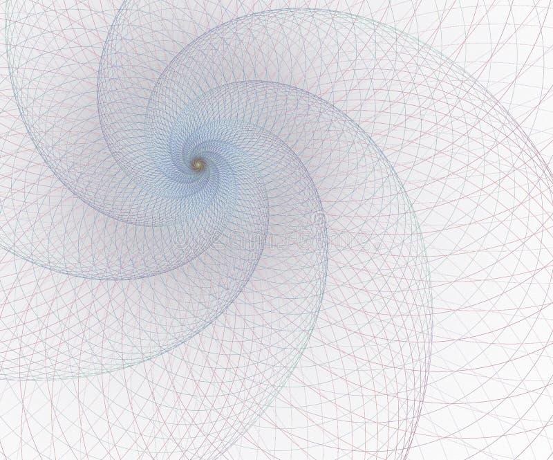 Geometria, elemento da malha Curvas da interse??o Projeto futurista surreal ilustração royalty free