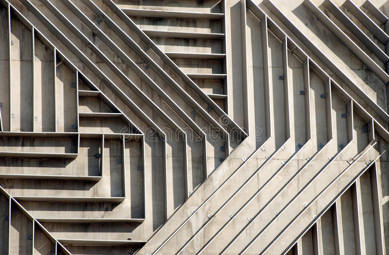Geometria na arquitetura foto de stock