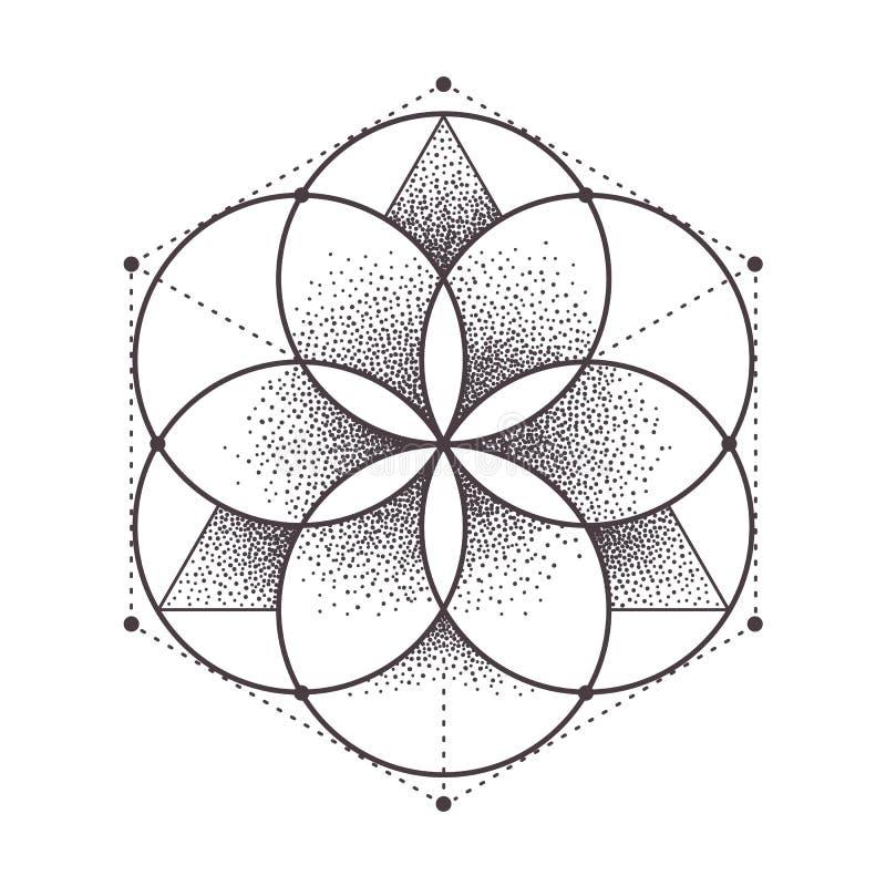 Geometria sagrado ilustração do vetor