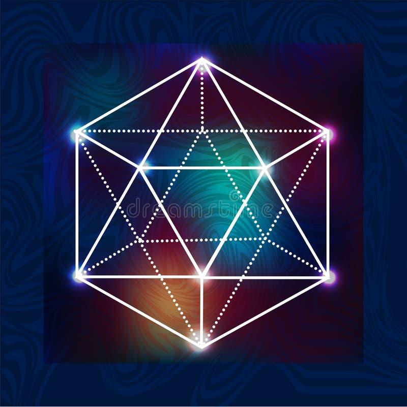 Geometria sagrado 2 ilustração do vetor