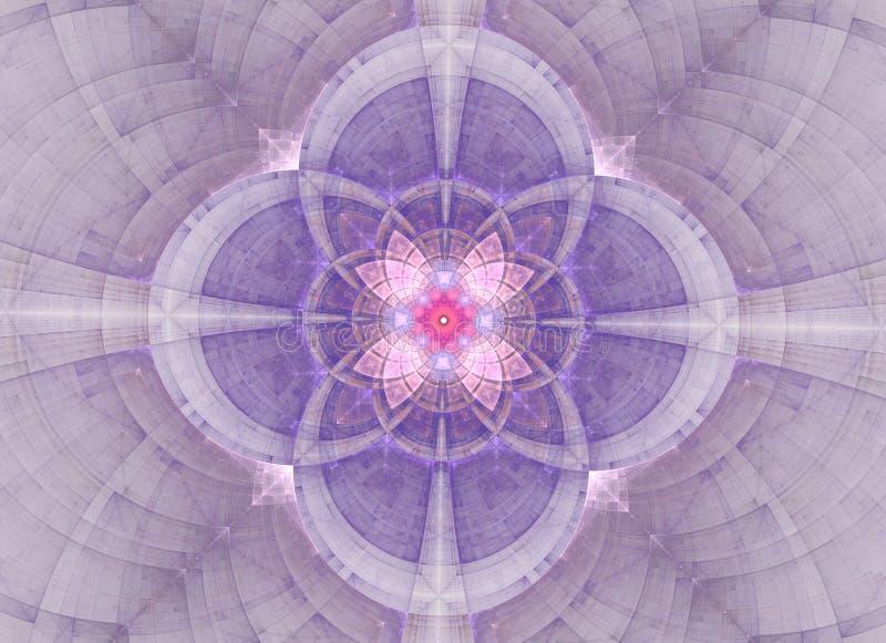 Geometria sagrado do sum?rio do caleidosc?pio Arte finala ?tnica do fractal ilustração royalty free