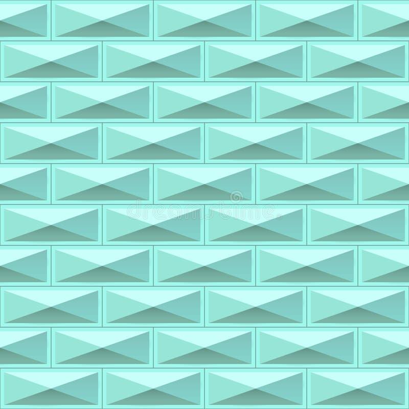 A geometria telha a textura Teste padrão sem emenda ilustração do vetor