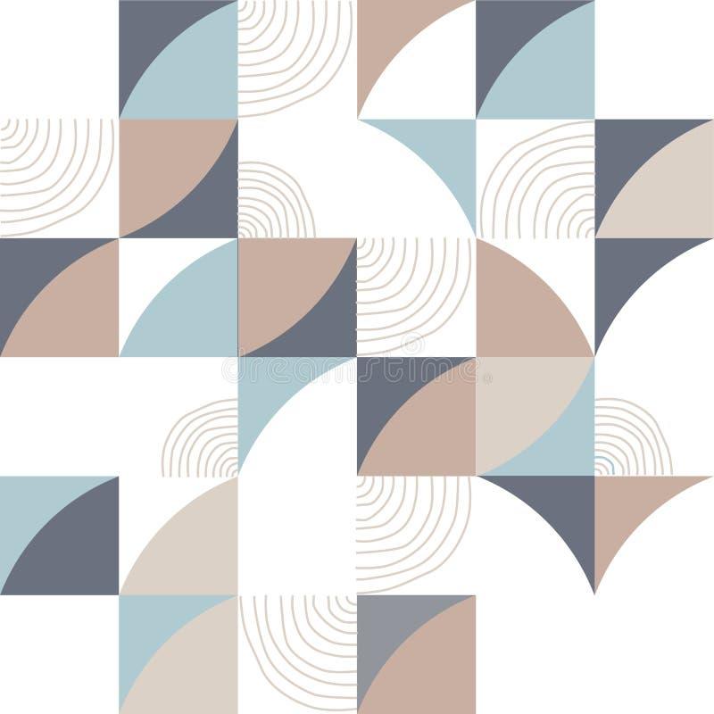 Geometria trójboka wektoru wzór Etniczny bezszwowy ornament ilustracji
