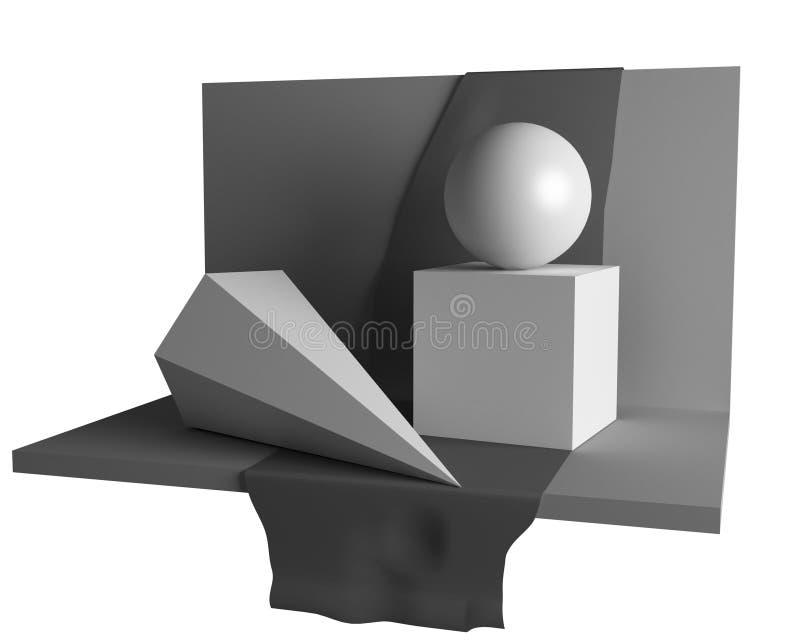 geometribildlivstid fortfarande vektor illustrationer