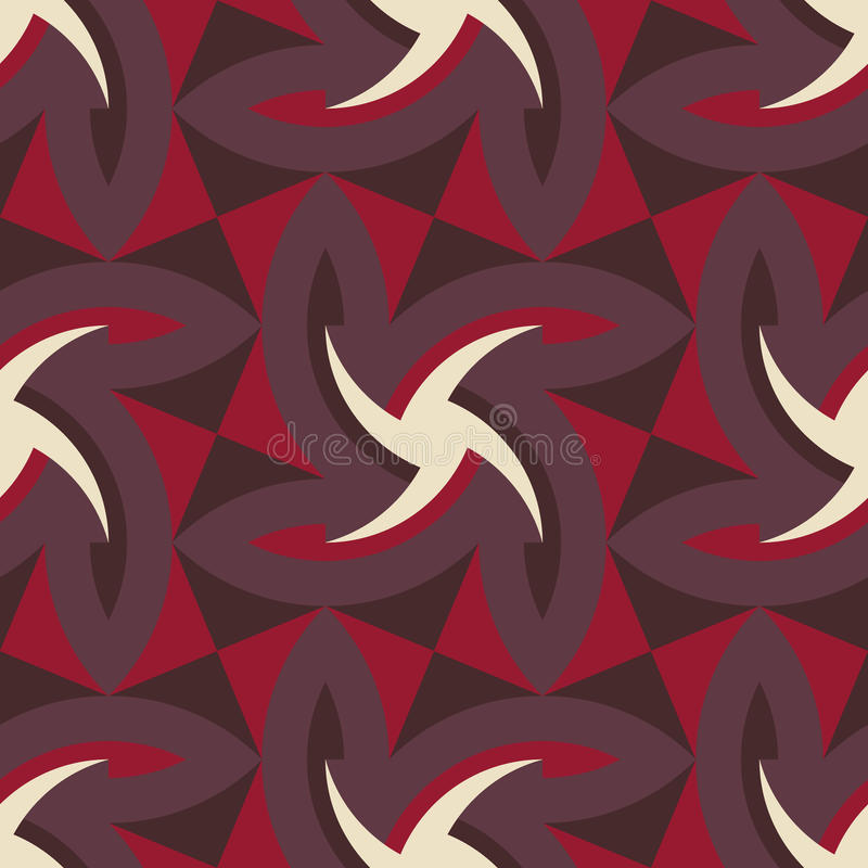 Geometric abstract art pattern composed fabric stock photo