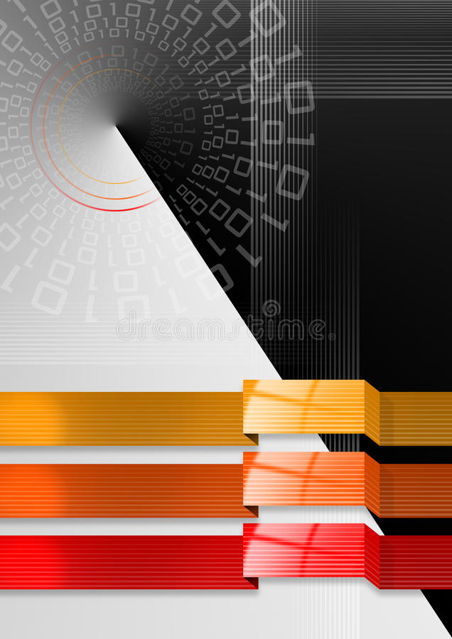 Geometric abstract background black red and orange royalty free illustration