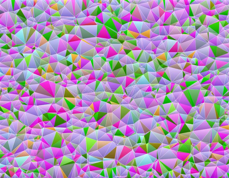 Geometric abstract background of colorful triangles royalty free illustration