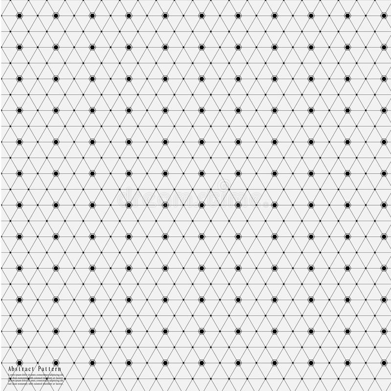 Geometric Abstract Background With Connected Line And Dots Patterns. vector illustration