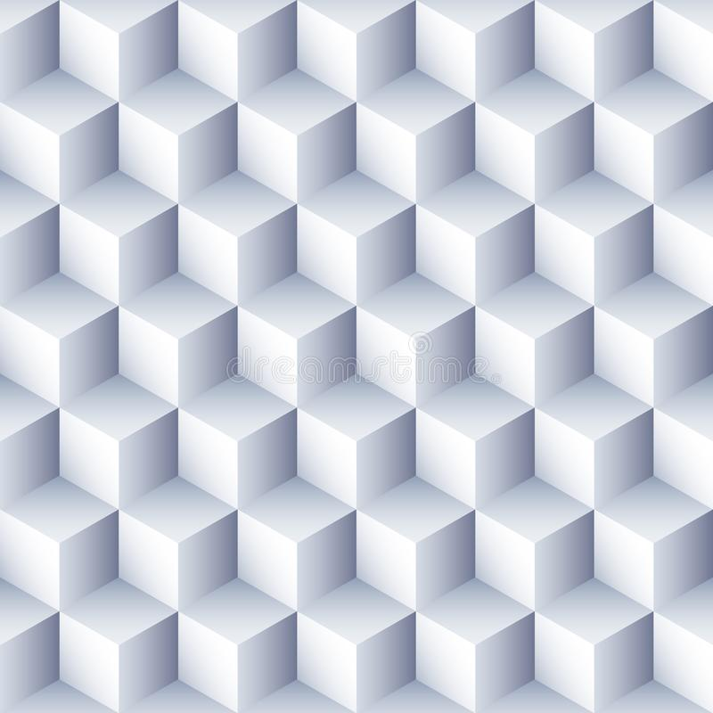 Geometric abstract background. 3D Cubes pattern. Volume hexagon seamless texture. vector illustration