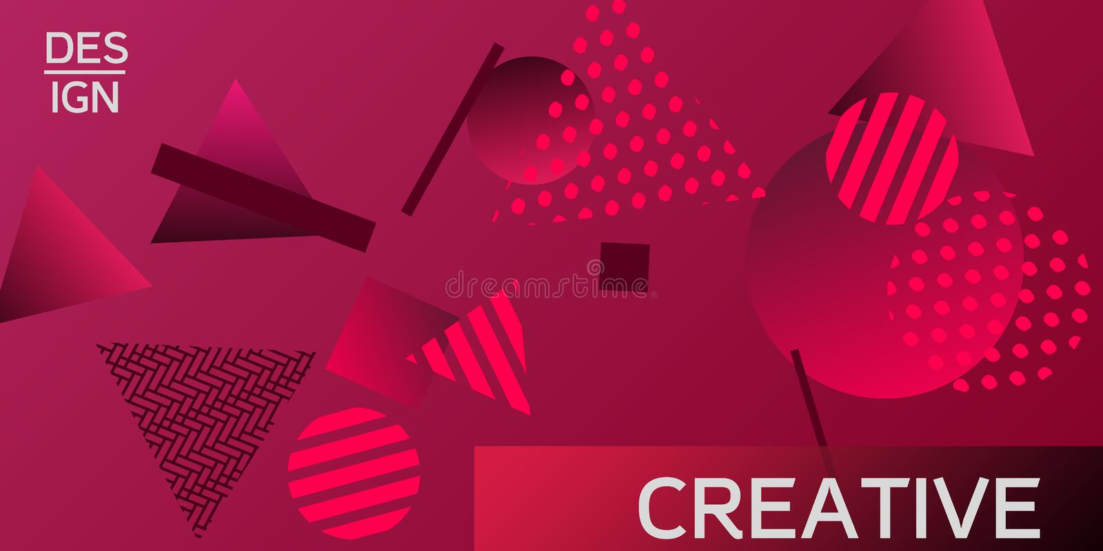 Geometric abstract background. royalty free illustration