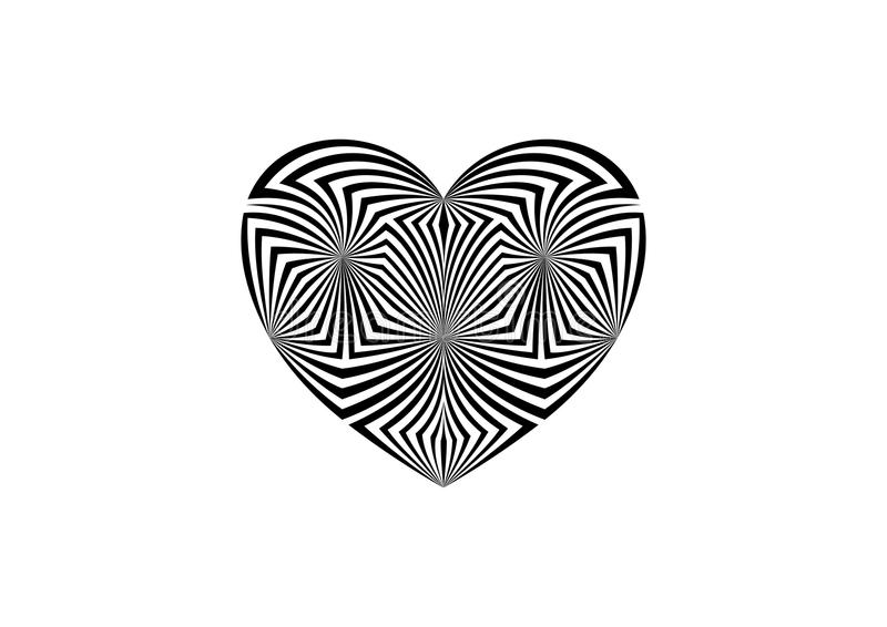 Geometric abstract black and white background vector illustration