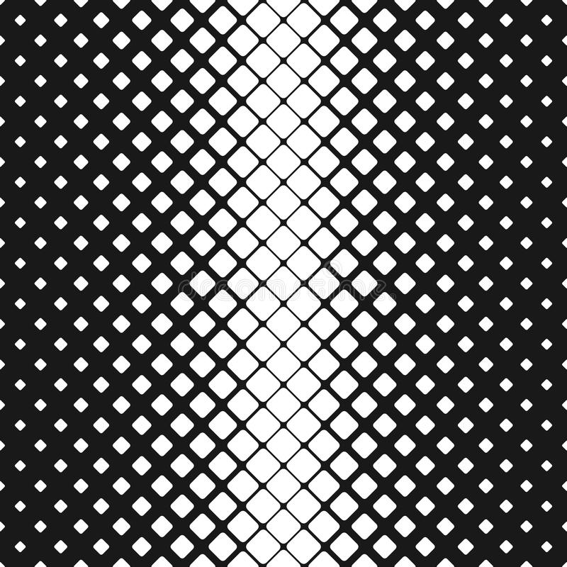 Geometric abstract black and white rounded square pattern background - vector design. With diagonal squares vector illustration