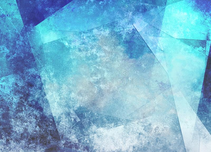 Geometric Abstract in Blue Tints vector illustration