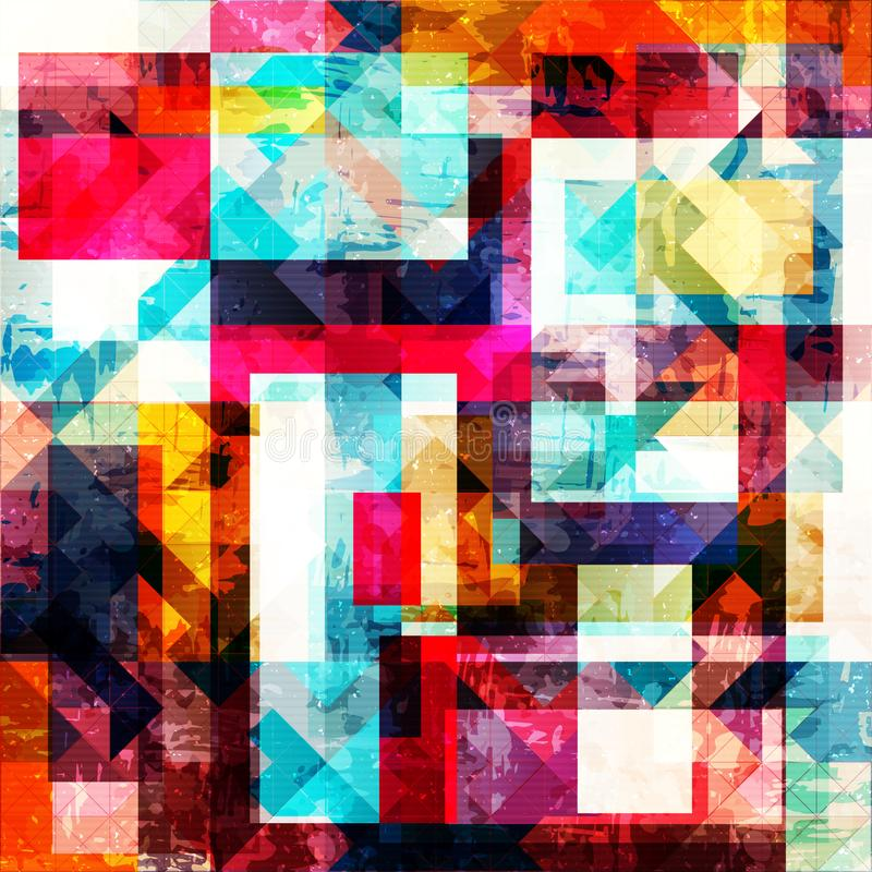 Geometric abstract color pattern in graffiti style. Quality vector illustration for your design stock illustration