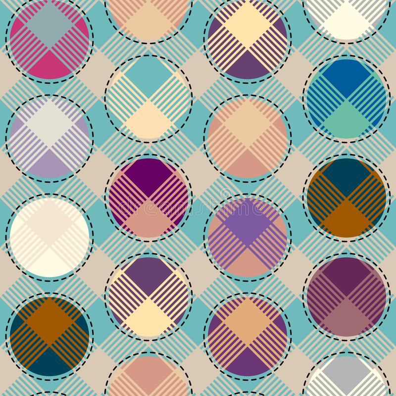 Geometric abstract diagonal plaid pattern in low poly pixel art style. royalty free illustration