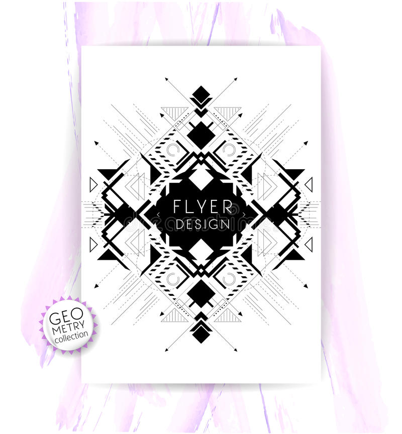 Geometric abstract flyer royalty free illustration