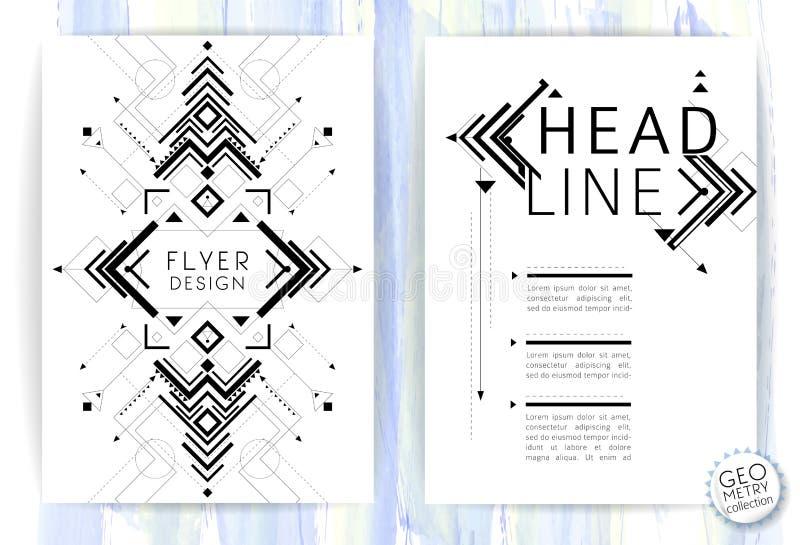 Geometric abstract flyer stock illustration