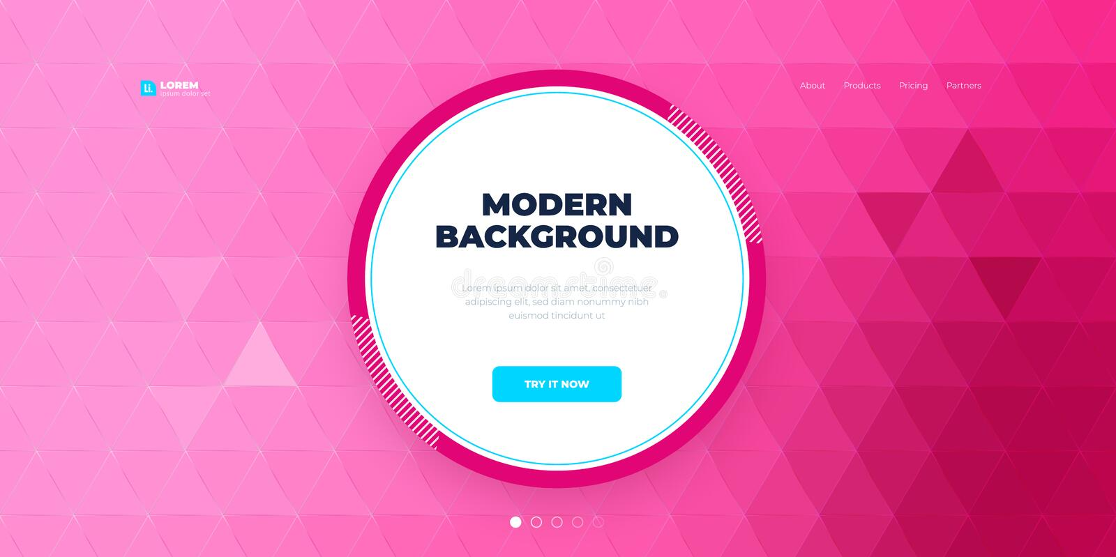 Geometric abstract gradient background design. Triangle shape abstract vector composition on background. Futuristic vector illustration