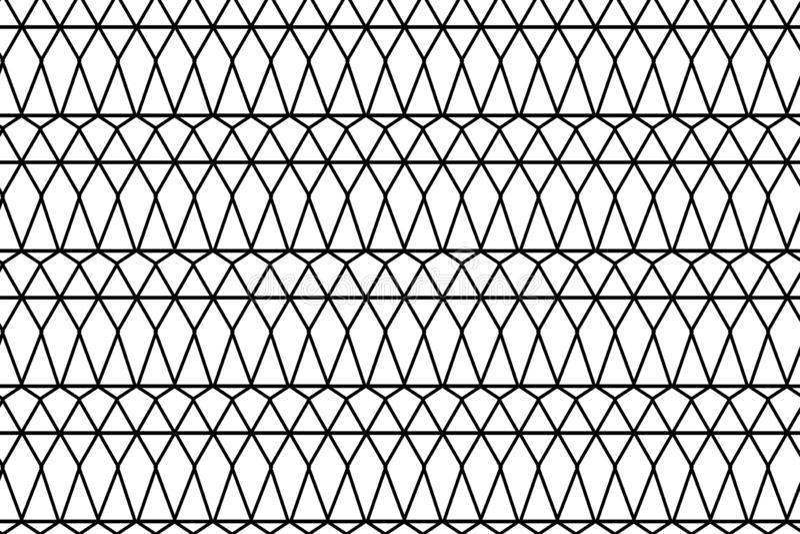 Geometric abstract pattern. Black texture.Seamless geometric pattern stock illustration