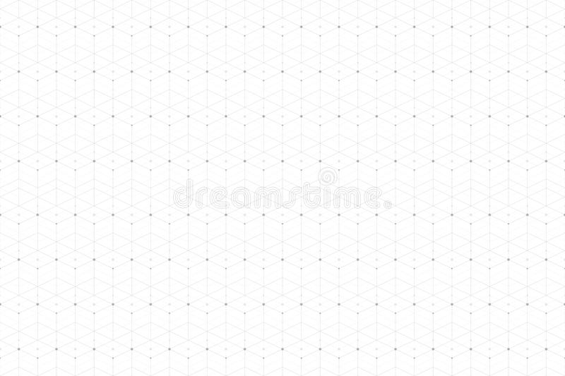 Geometric abstract pattern with connected line and dots. Graphic seamless background connectivity. Modern stylish vector illustration