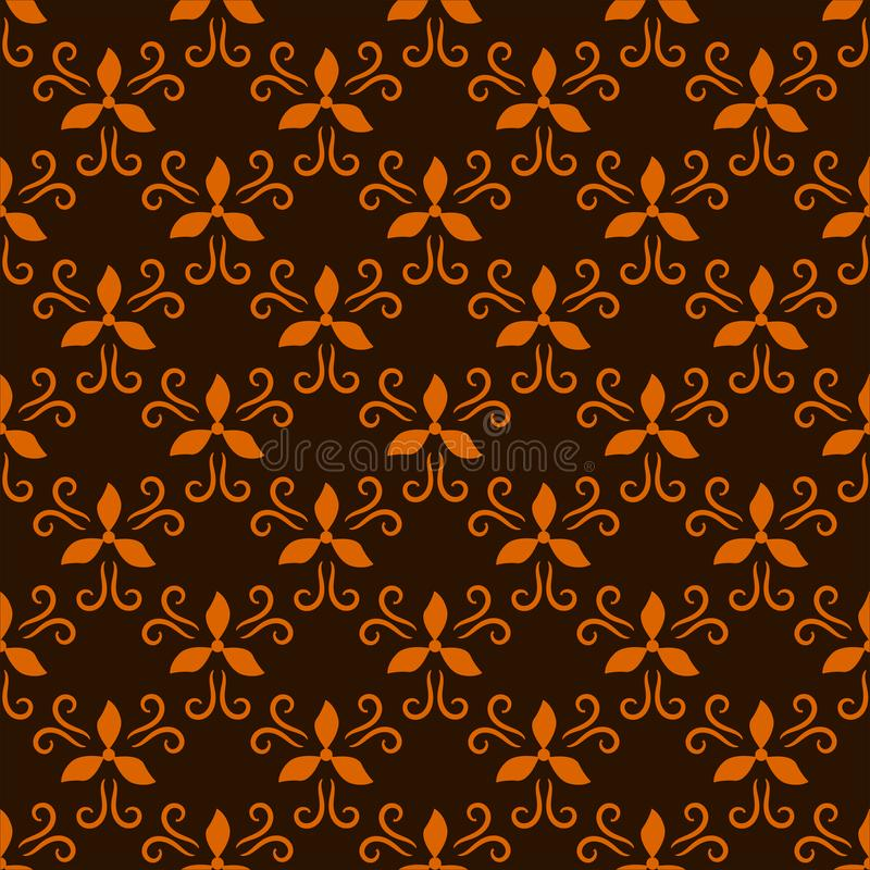 Geometric abstract seamless pattern on brown background royalty free stock photography